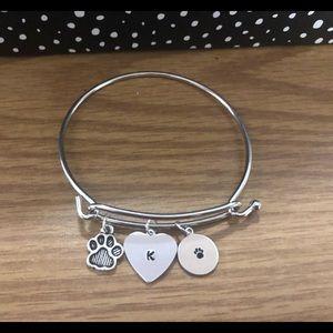 Jewelry - Customized DOG MOM initial bracelet!